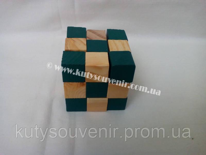 Деревянный куб Змейка