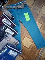 Брюки для мальчика  на 9-12 лет с ремнем, бежевого, синего, бардового, коричневого цвета оптом