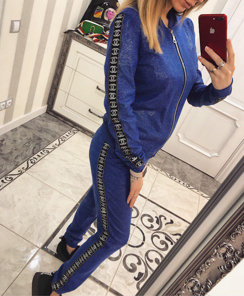 Тёплый спортивный костюм из ангоры Коко синий