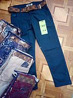 Брюки для мальчика  на 5-8 лет с ремнем, бежевого, синего, бардового, коричневого цвета оптом
