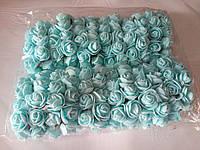 Роза из фоамирана без фатина, голубой