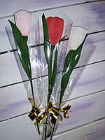 Цветы тюльпан-конфеты на 14 февраля день влюбленных