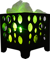 Соляной светильник, Корзина № 2 (шарики), Вес 1,5кг; Размеры: 12*12*13см