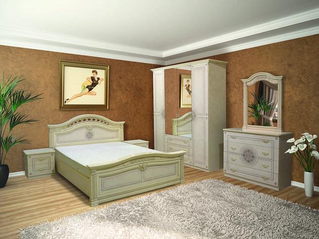 Спальня в класичному стилі з художньої печаткою Діана 4Д Світ меблів, колір піно беж, фото 2