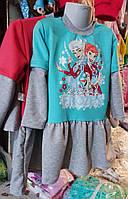Детская утепленное платье-туника