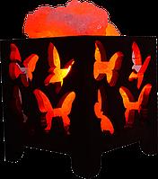 Соляной светильник, Корзина № 3 (бабочки), Вес 1,5кг; Размеры: 12*12*13см