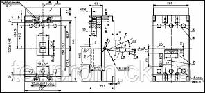 Автоматический выключатель А 3796 630 А, фото 2