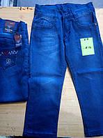Джинсы для мальчика 8-12 лет синего цвета оптом
