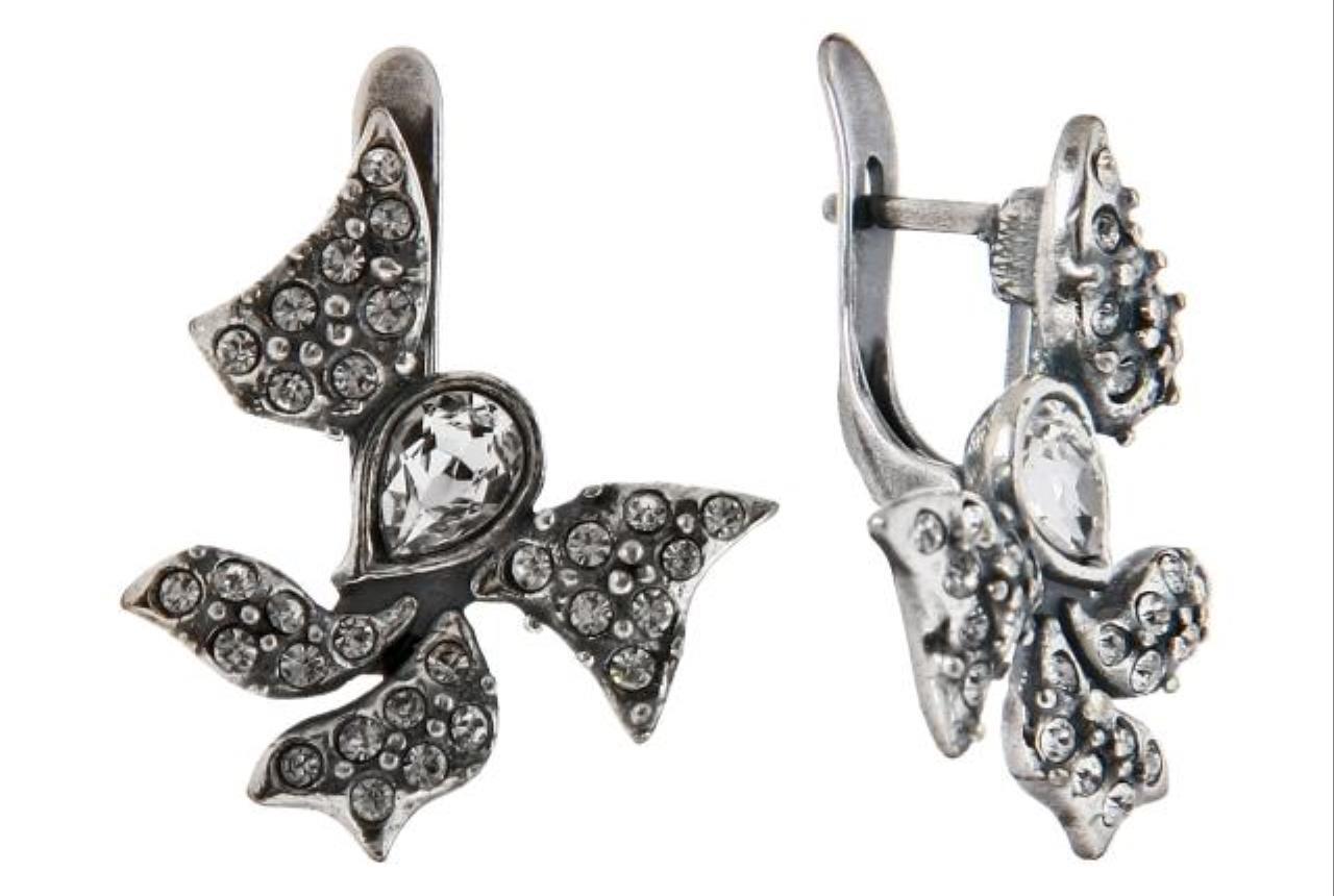"Серьги ""Мотагю""  с кристаллами Swarovski  (h9213100)"