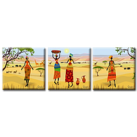 Модульная картина Триптих Glozis Oasis Оазис 50х50 см