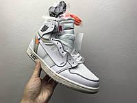 Кроссовки Nike Air Jordan 1 х OFF-WHITE найк аир джордан AQ0818 100