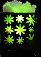 Соляной светильник, Корзина № 4 (ромашки), Вес 1,5кг; Размеры: 12*12*13см