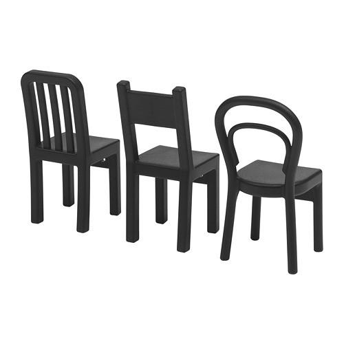 Крюк IKEA FJANTIG черный 3 шт 603.471.02