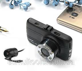 Відеореєстратор T 660 Plus, 2 камери, FULL HD, метал