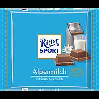 Шоколад молочный Ritter Sport Alpenmilch(Риттер Спорт альпийское молоко), 100 г