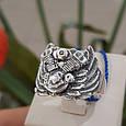 Серебряное байкерское мужское женское унисекс кольцо перстень для байкера Сердце Харлея 18450 ст, фото 7