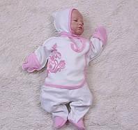 Комплект для новорожденного monogram (розовый)