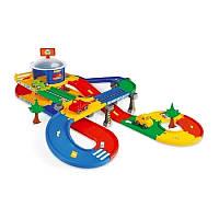 Игровой набор мега гараж с трассой, длина 5,5 м, в наборе 2 машинки, Kid Cars 3D, ТМ Wader, фото 1