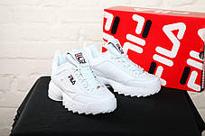 Мужские кроссовки FILA Disruptor 2 - Original white, материал - кожа, подошва - пена, фото 3