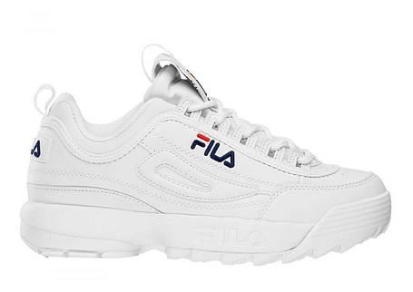 Мужские кроссовки FILA Disruptor 2 - Original white, материал - кожа, подошва - пена, фото 2