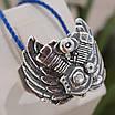 Серебряное байкерское мужское женское унисекс кольцо перстень для байкера Сердце Харлея 18450 ст, фото 5