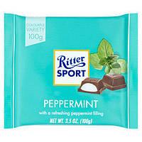 Шоколад темный Ritter Sport с мятой, 100 г