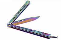 Балисонг хамелеон резная рукоять, нож бабочка, тренировочное оружие для трюков (флипперов), филиппинский нож