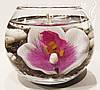 Свеча шар орхидея