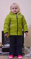"""Зимняя детская куртка для девочки """"Вероника"""" фисташковый 98-110 р."""