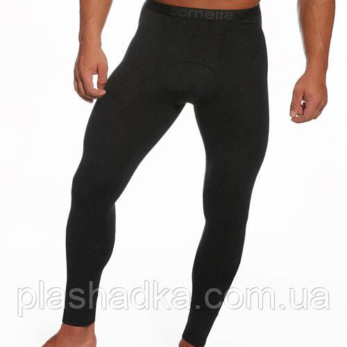 Термо-кальсоны мужские Польша (цвет черный)/Кальсоны мужские, теплые на байке