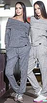 Нарядный костюм из ангоры кофта с открытыми плечами, фото 3