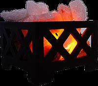 Соляной светильник, Корзина № 9, Вес 4кг; Размеры: 18*18*13,см