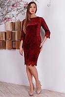 Женское платье велюр в расцветке, фото 1