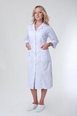 Красивый женский медицинский халат
