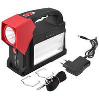 Кемпинговый аккумулятор фонарь от солнечной батареи LED лампочки PowerBank GREELITE YJ1960T. Код: КГ3366