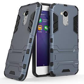 Чехол накладка для Huawei Honor 6A противоударный силиконовый с пластиком, Alien, темно-синий