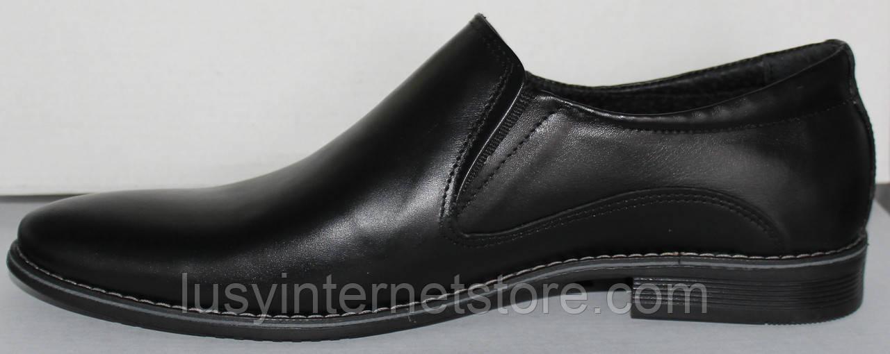 1e3a77b9590bce Туфли мужские кожаные черные классика от производителя модель ОЛТ10 ...