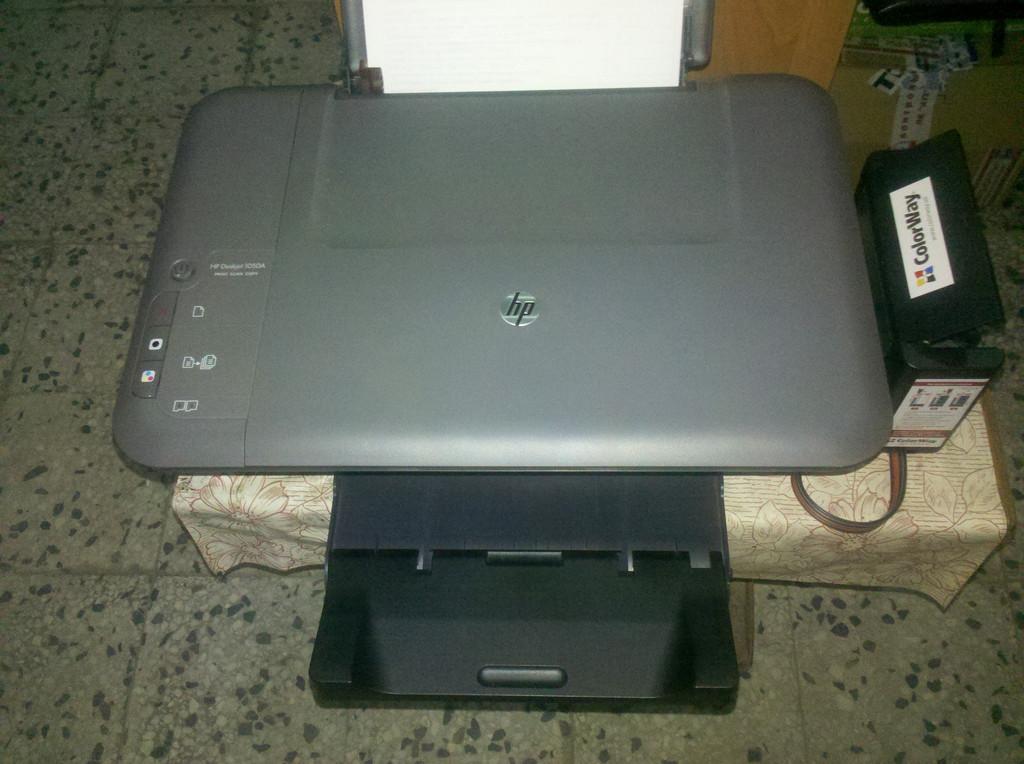 Установка СНПЧ ColorWay H650CN-4.5NC на МФУ HP Deskjet 1050A