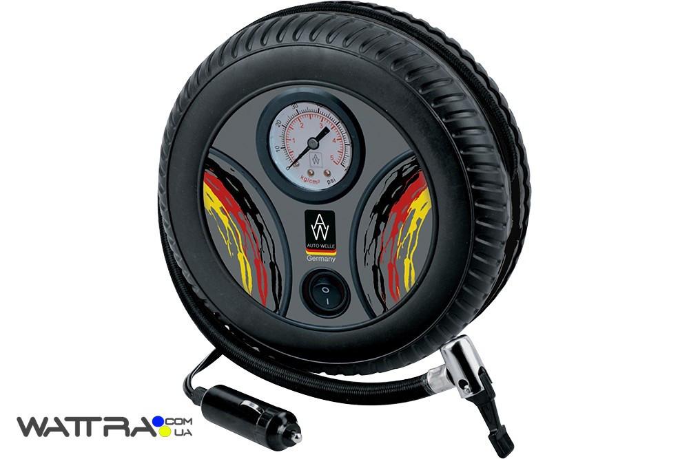 Компрессор атомобильный AUTO WELLE AW02-12 пластик 12V 9A 25 l/min