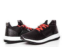 Мужская спортивная обувь оптом. Am-11 Black-Red (8 пар 40-45)