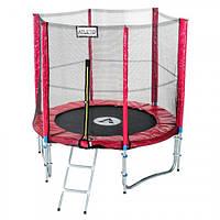 Батут для детей Atleto Mip 183 см с внешней сеткой + лестница
