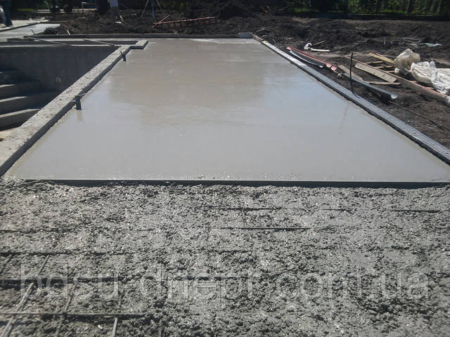 Армированная бетонная отмостка