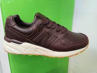Мужские кроссовки New Balance 999 leather коричневые
