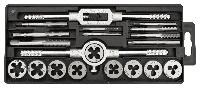 Плашки и метчики, M3-M12, набор 20 шт. TOPEX (14A425), фото 1