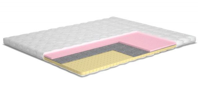 Матрас TOPPER-FUTON 7 / ТОППЕР-ФУТОН 7 (Высота 6 см) латекс натуральный перфорированный, memory foam (Пена с памятью), термоволокно