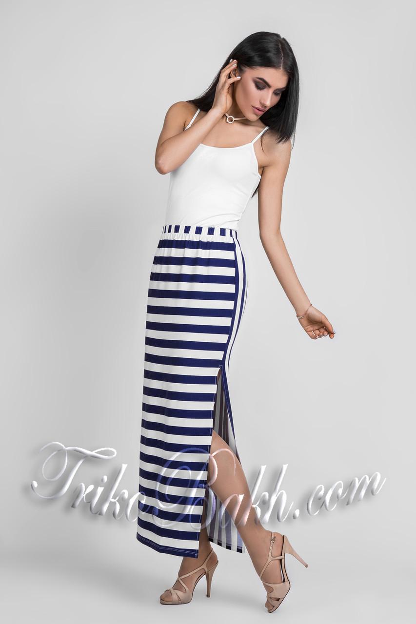 4772918cc1d Женская летняя длинная юбка в полоску Вискоза - Распродажа - VK-Style в  Киеве