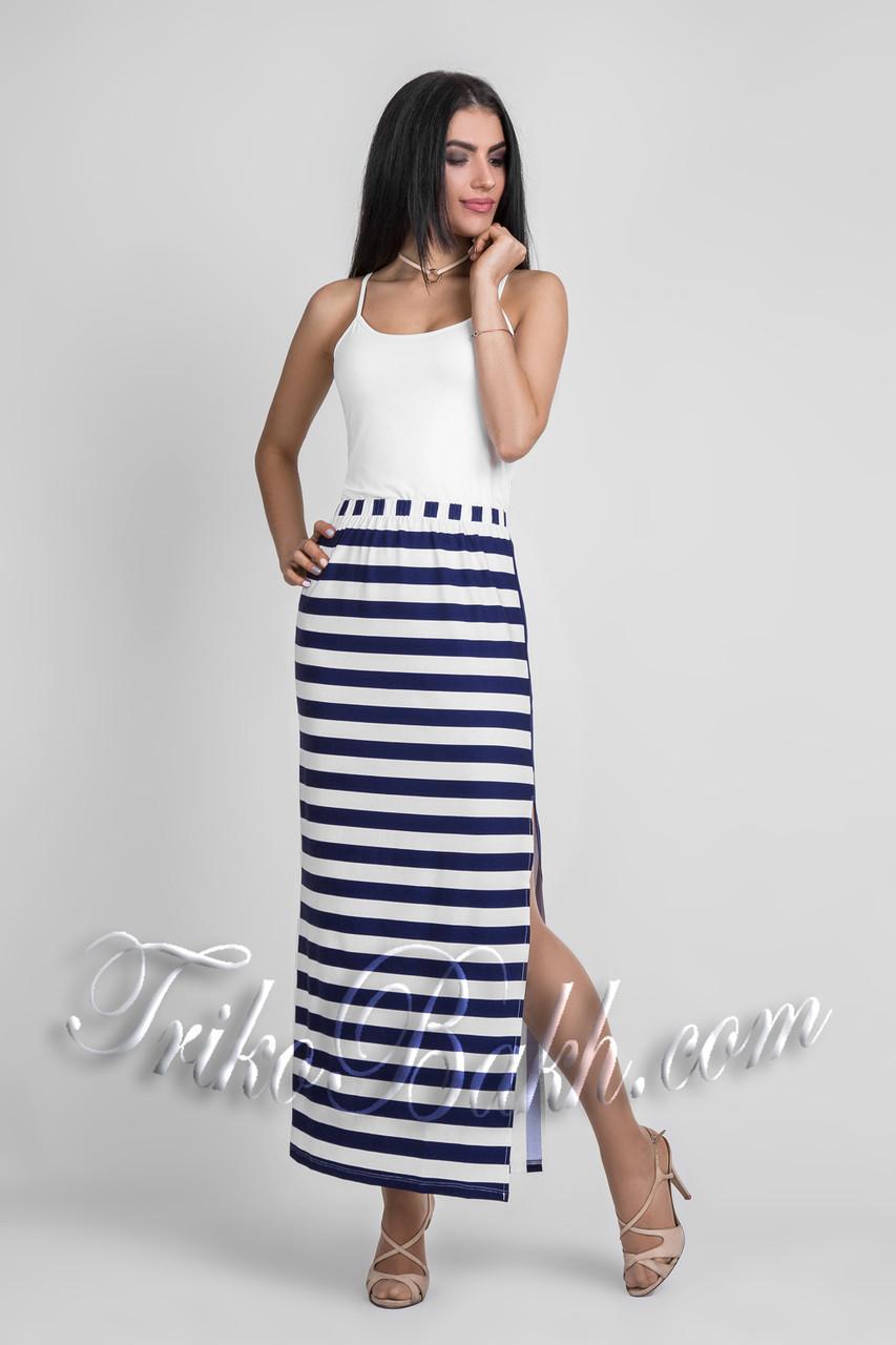 b92b001de2f Женская летняя длинная юбка в полоску Вискоза - Распродажа  продажа ...