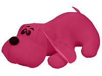 Антистрессовая игрушка Собака Джой 38см в Тёмно-розовый Оранжевый Зелёный