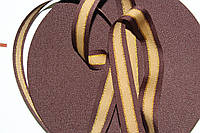 ТЖ 20мм репс (50м) коричневый+т.беживый+люр.золото