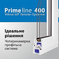 Металлопластиковое окно Viknaroff Делюкс клас Prime Line 400 4-х камерное